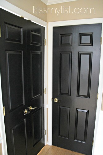 really pleased with the way the painted doors look it was quick. Black Bedroom Furniture Sets. Home Design Ideas