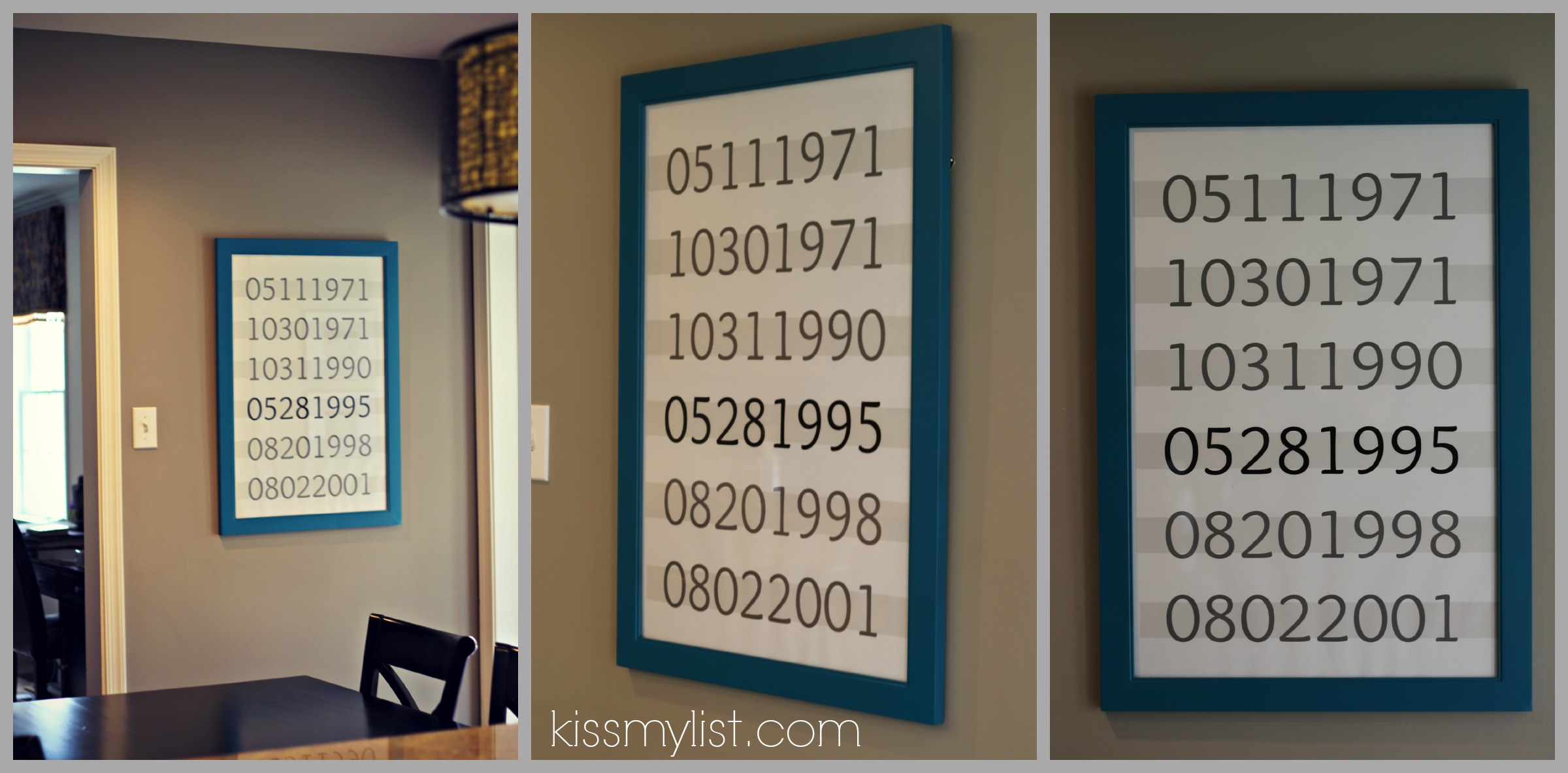 Important Dates Wall Art