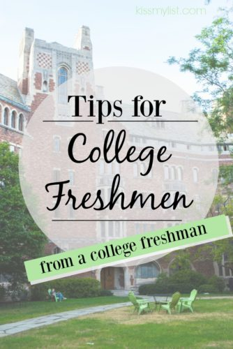 tips for college freshmen