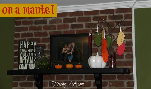 thanksgiving tree on mantel