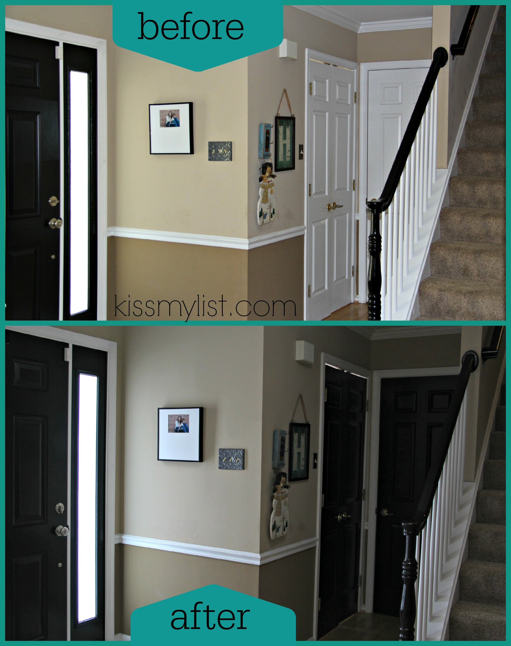 How to paint interior doors black for Black interior paint