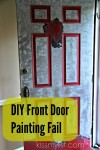Painting the front door – another DIY fail