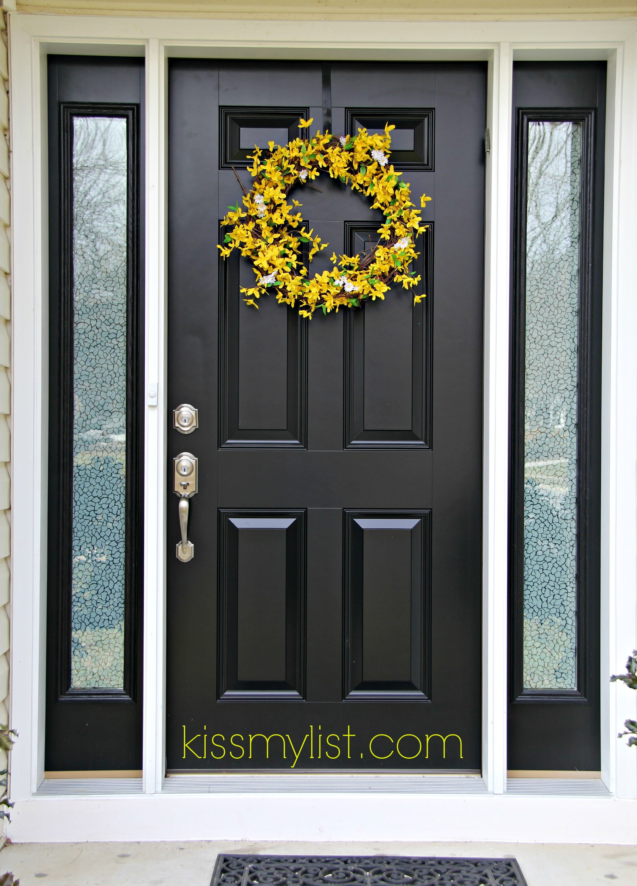 Black Door With Side Light : Painting the front door another diy fail kiss my list