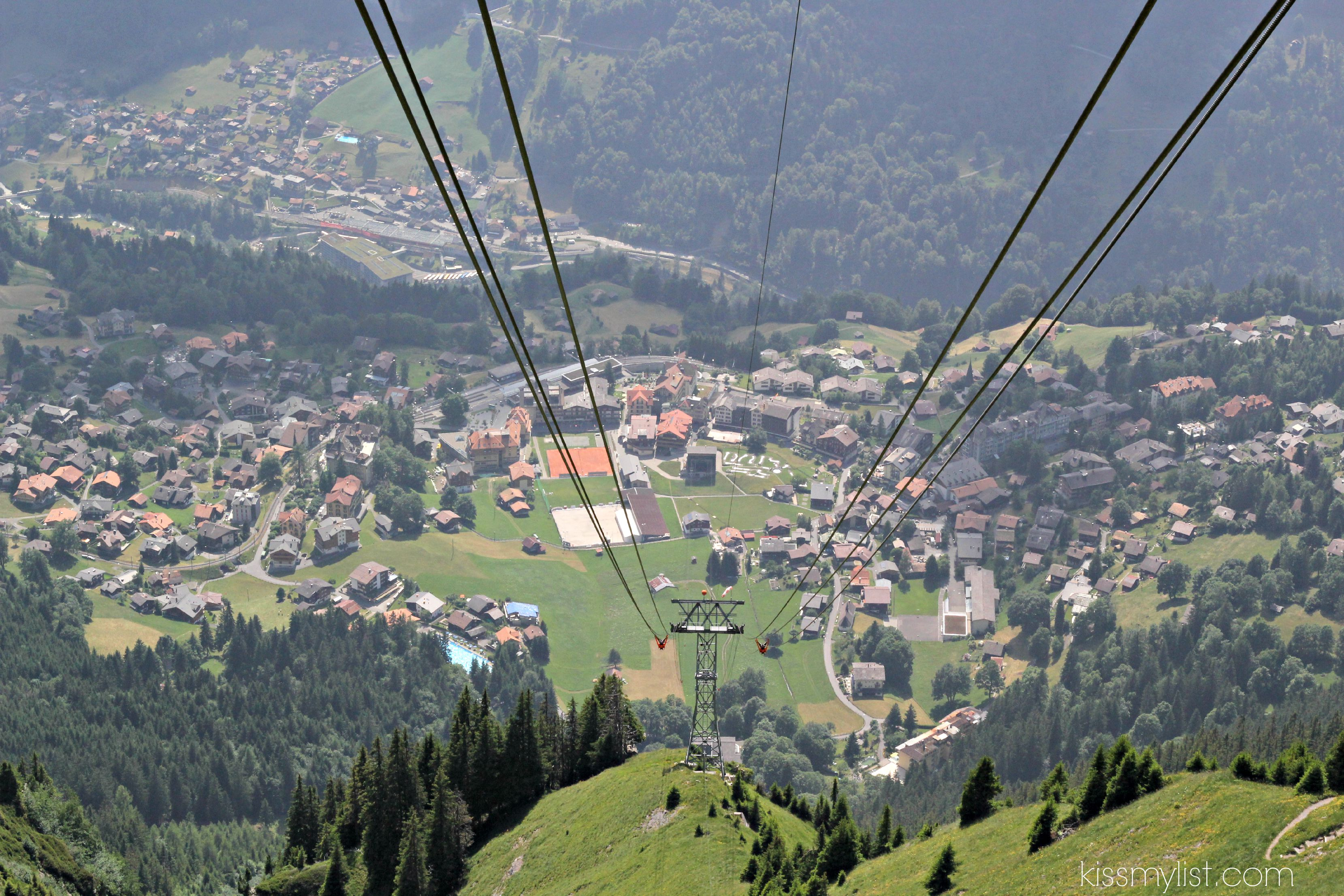 Cable car from Mannlichen
