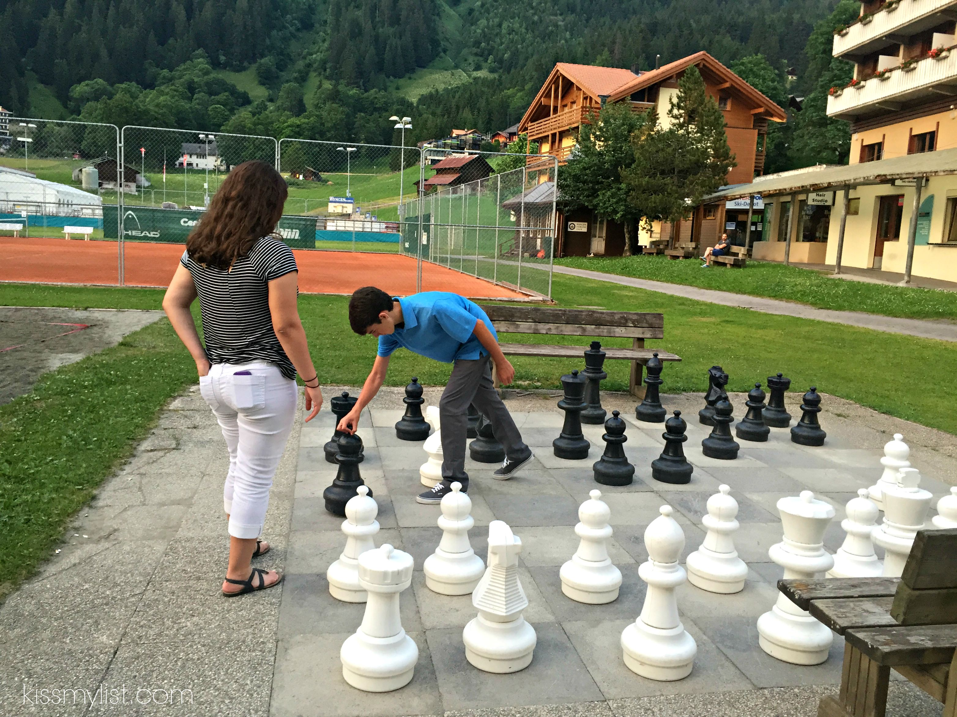 Life size chess in Wengen
