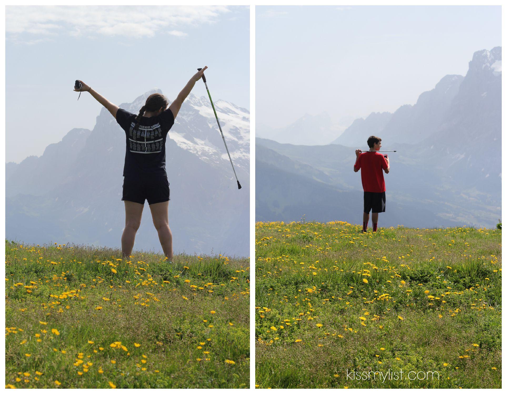 Walking in the Swiss Alps - Mannlichen