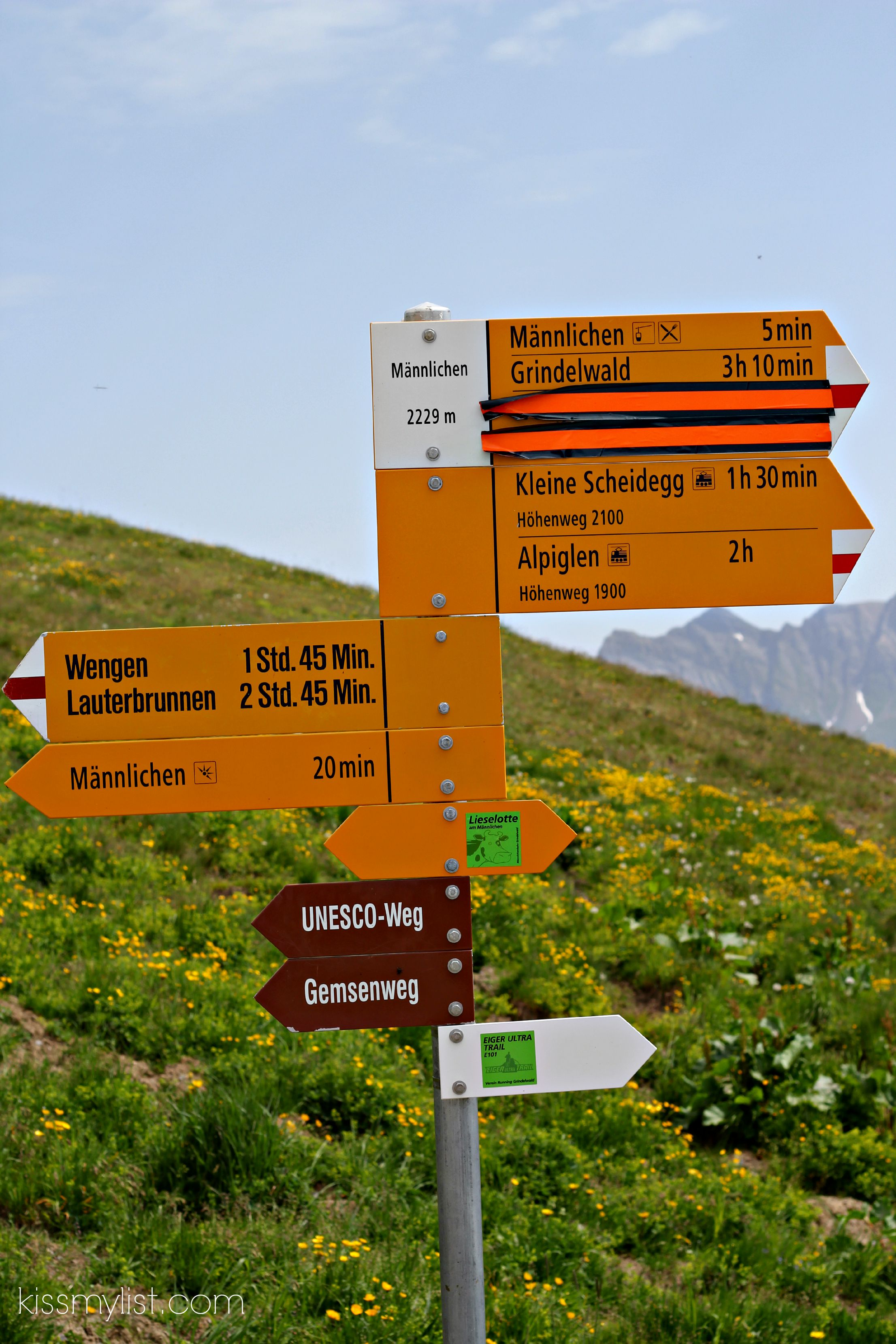 signs in the swiss alps