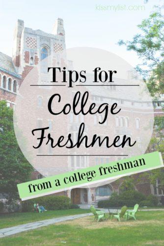 tips for college freshmen